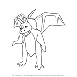 How to Draw Asher from Spyro