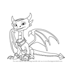 How to Draw Cynder from Spyro