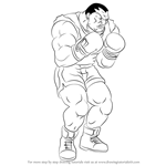 How to Draw Balrog from Street Fighter