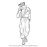 How to Draw Charlie Nash from Street Fighter