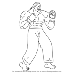 How to Draw Dee Jay from Street Fighter