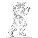 How to Draw Guile from Street Fighter