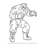 How to Draw Zangief from Street Fighter