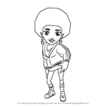 How to Draw Frizzy from Subway Surfers