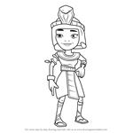 How to Draw Jasmine from Subway Surfers
