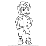 How to Draw Roberto from Subway Surfers