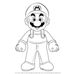 How to Draw Mario from Super Mario