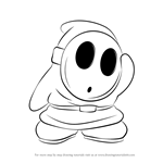 How to Draw Shy Guy from Super Mario