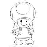 How to Draw Toadette from Super Mario