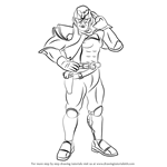 How to Draw Captain Falcon from Super Smash Bros