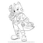 How to Draw Fox from Super Smash Bros