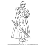 How to Draw Marth from Super Smash Bros