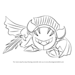 How to Draw Meta Knight from Super Smash Bros