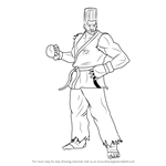 How to Draw Paul Phoenix from Tekken
