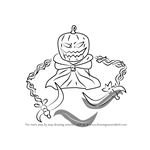 How to Draw Pumpking from Terraria