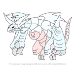 How to Draw Bahamut Cat from The Battle Cats