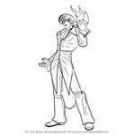 How to Draw Iori Yagami from The King of Fighters