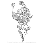 How to Draw Midna from The Legend of Zelda