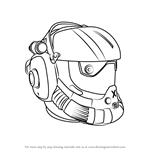 How to Draw Viper Helmet from Titanfall 2