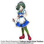 How to Draw Sakuya Izayoi from Touhou