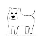 How to Draw Annoying Dog from Undertale