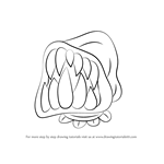 How to Draw Big Mouth from Undertale