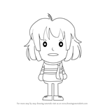 How to Draw Frisk from Undertale