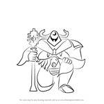 How to Draw Knight Knight from Undertale