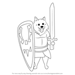 How to Draw Lesser Dog from Undertale
