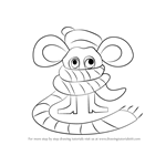 How to Draw Scarved Mouse from Undertale