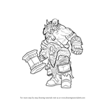How to Draw Durotan from Warcraft
