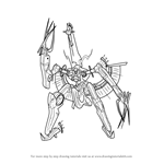 How to Draw Metal Face from Xenoblade Chronicles