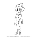 How to Draw Katie Forester from Yo-kai Watch