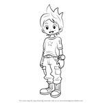 How to Draw Nathan Adams from Yo-kai Watch
