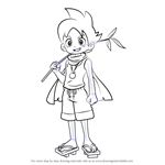 How to Draw Nathaniel Adams from Yo-kai Watch