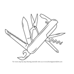 How to Draw Swiss Army Knife
