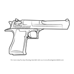 How to Draw IMI Desert Eagle