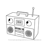 How to Draw Boombox from Don't Hug Me I'm Scared