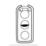 How to Draw Stoplight from Don't Hug Me I'm Scared